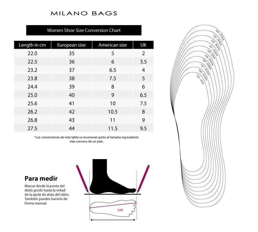 Guia de tallas - Milano Bags