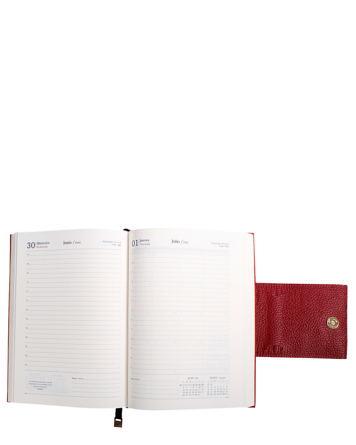 Agenda AG-0125 Color Rojo