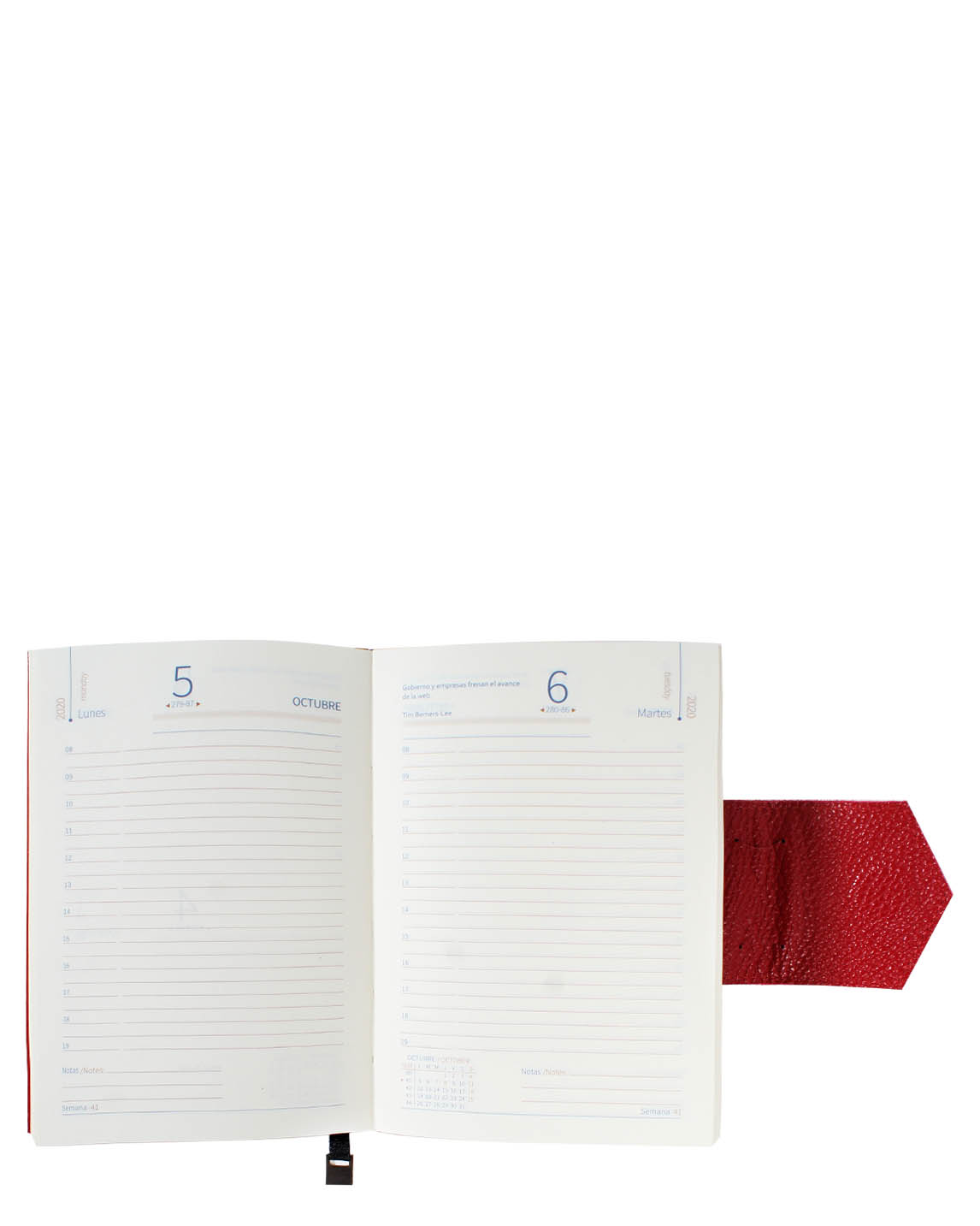 Agenda AG-129 Color Rojo