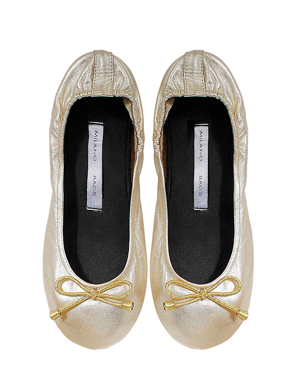 Ballerinas Roll Up (para interiores) PTF-0003 Color Oro