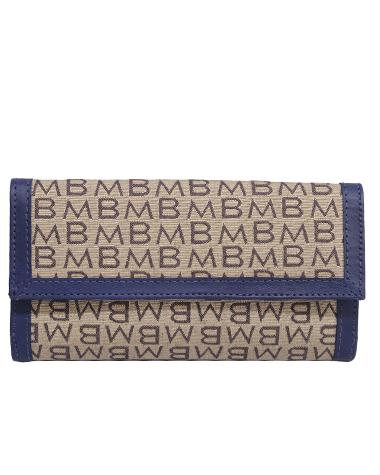 Billetera de Mujer BM-351 Color Logo Beige con Azulino