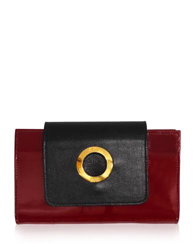 Billetera de Mujer BM-476 Color Rojo con Negro