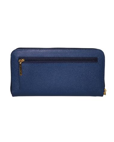 Billetera de Mujer BM-505 Color Azul en Cuero Zafiano