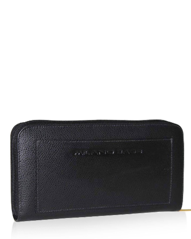 Billetera de Mujer BM-505 Color Negro en Cuero Zafiano
