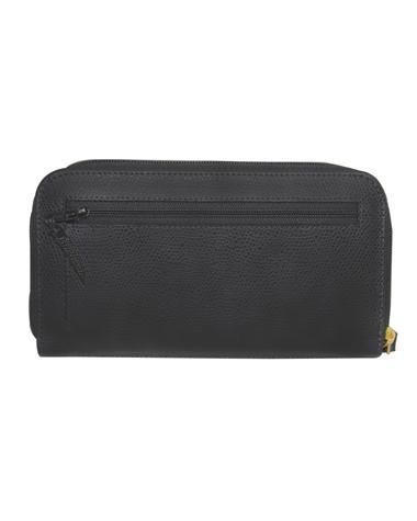 Billetera de Mujer BM-506 Color Negro en Cuero Zafiano
