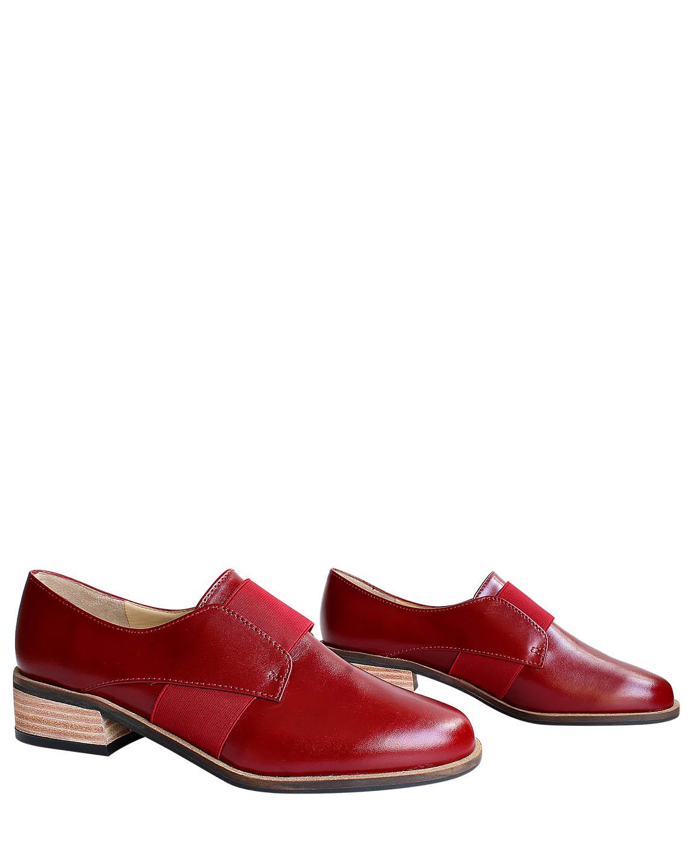 Calzado Derby FD-7991 Color Rojo