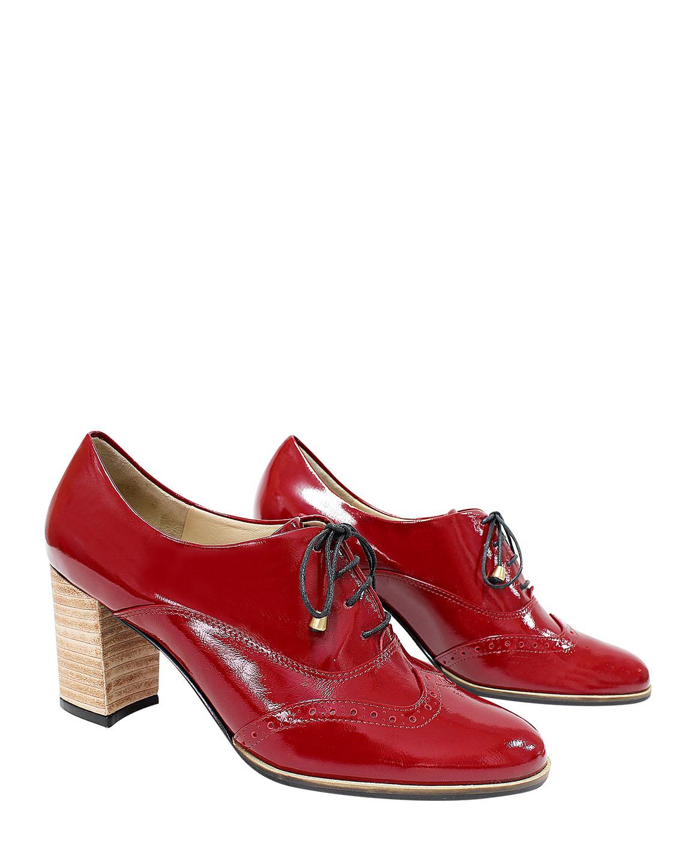 Calzado Derby FD-8171 Color Rojo