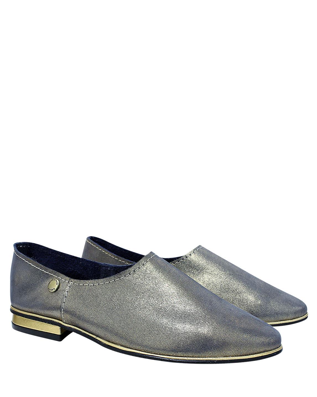 Calzado Flat FR-8319 Color Oro
