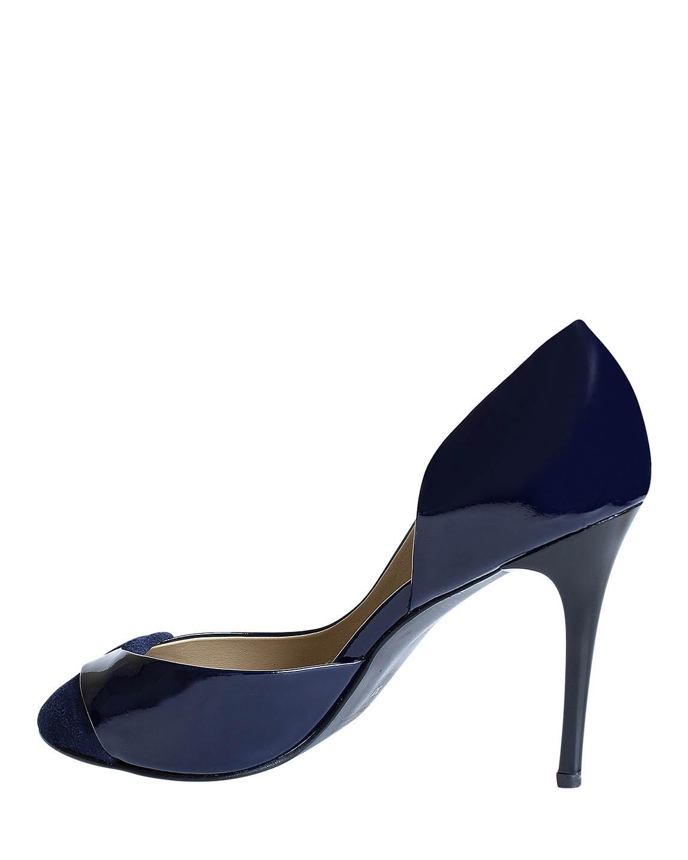 Calzado Peep Toe FR-9186 Color Azul
