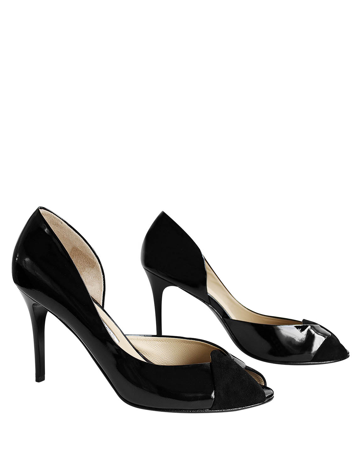 Calzado Peep Toe FR-9186 Color Negro