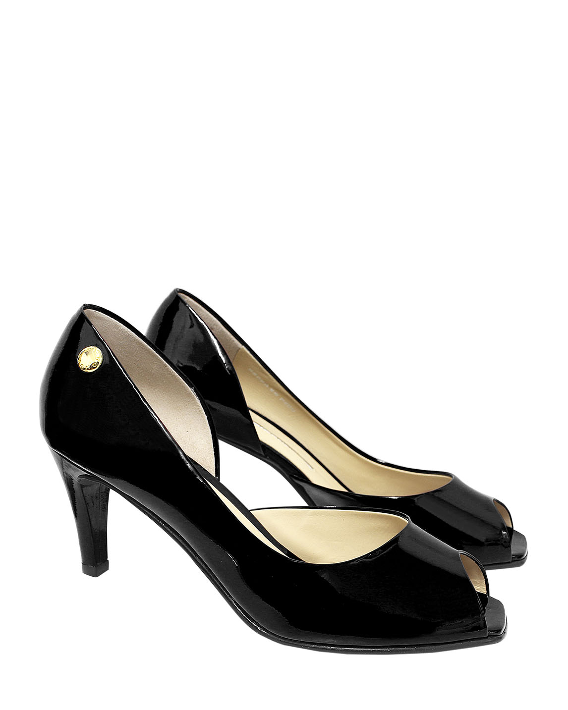 Calzado Peep Toe FRP-7849 Color Negro