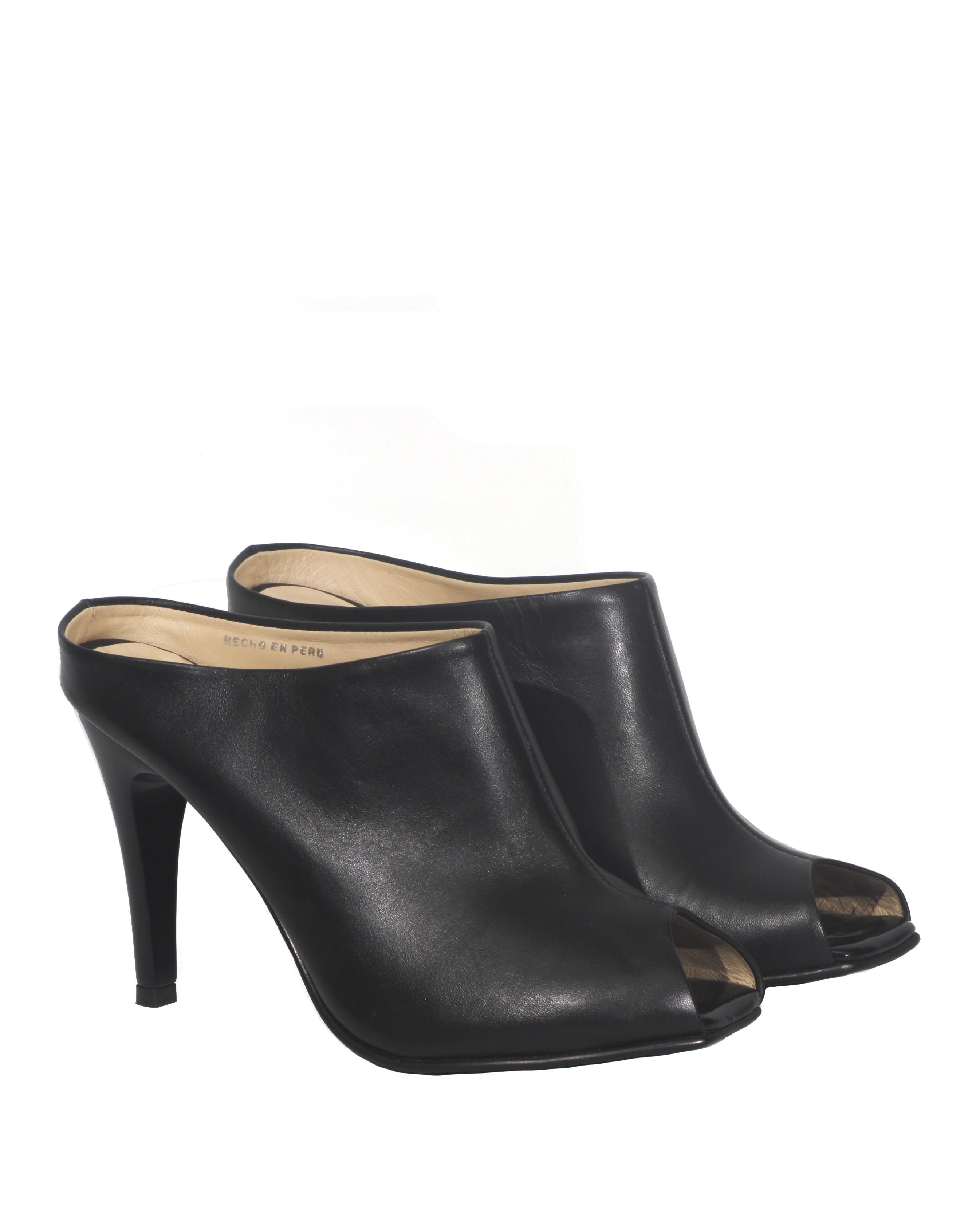 Calzado Peep Toe FS-8027 Color Negro
