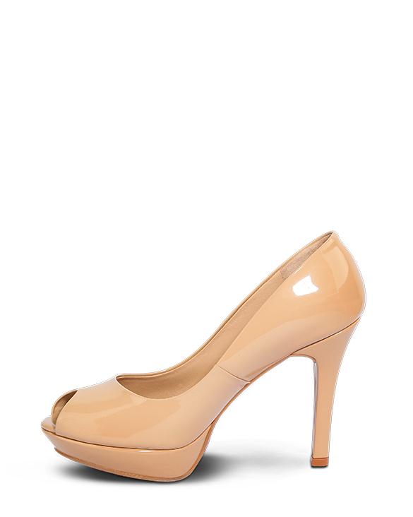 Calzado Peep Toe Plataforma FR-6992 Color Beige