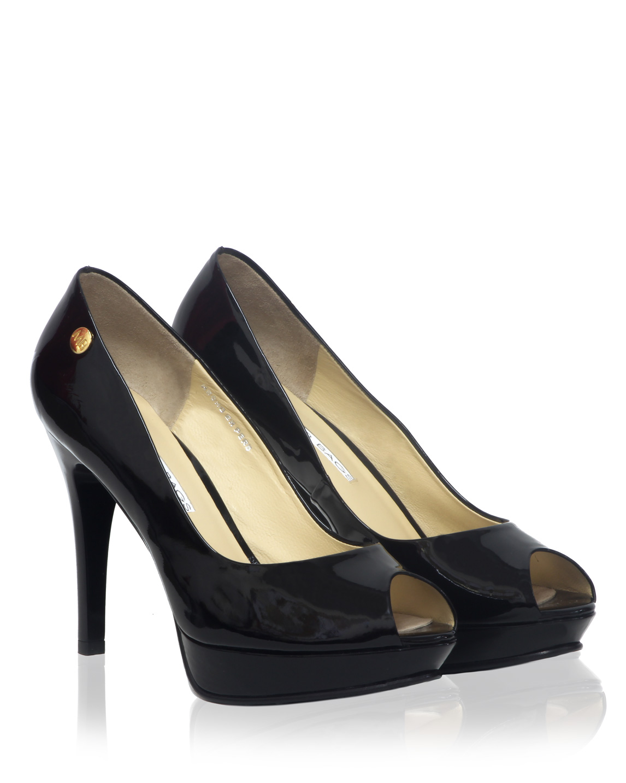 Calzado Peep Toe Plataforma FR-6992 Color Negro
