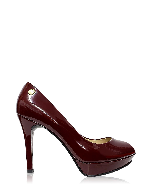 Calzado Peep Toe Plataforma FR-6992 Color Rojo
