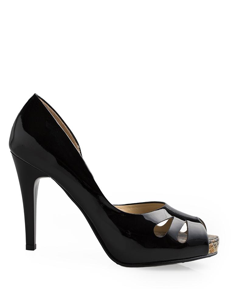 Calzado Peep Toe Plataforma FRP-7974 Color Negro