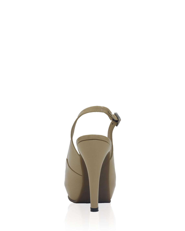 Calzado Peep Toe Plataforma FRT-6812 Color Beige