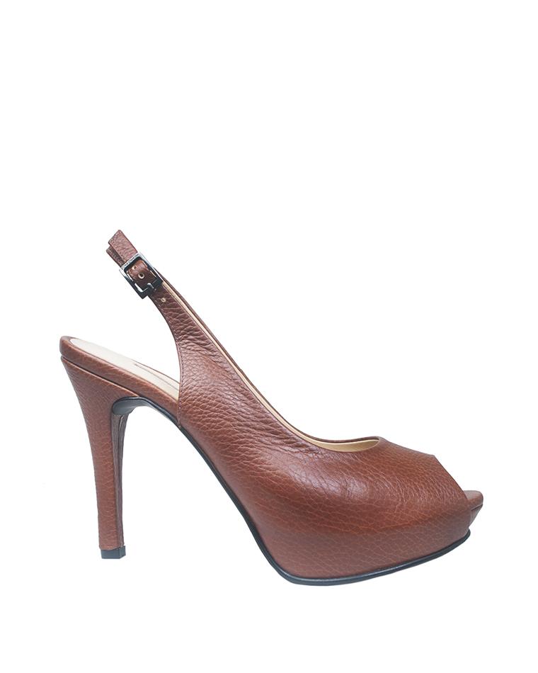 Calzado Peep Toe Plataforma FS-7732 Color Natural