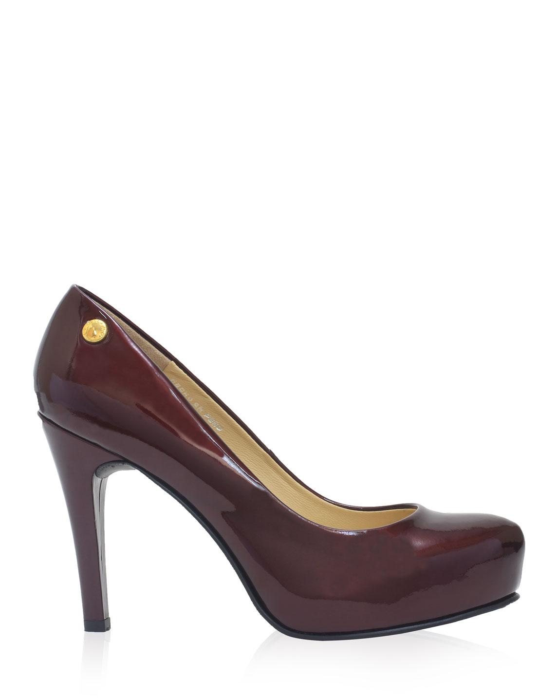 Calzado Reina Plataforma FR-6561 Color Rojo