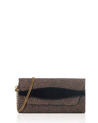 Cartera Cluch & Evening Bag DS-1252 Color Animal Print Marrón
