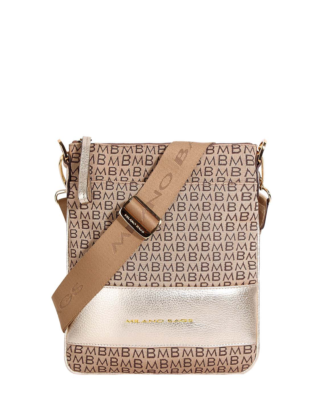 Cartera Crossbody DS-1872 Color Oro