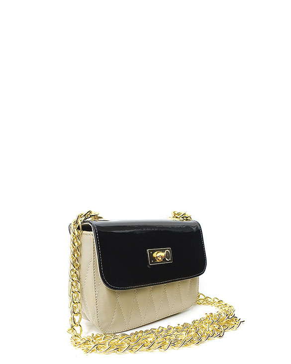 Cartera Satchel DS-2571 Color Beige
