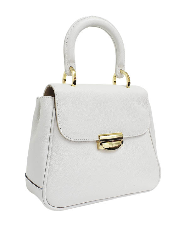 Cartera Satchel DS-2945 Color Blanco