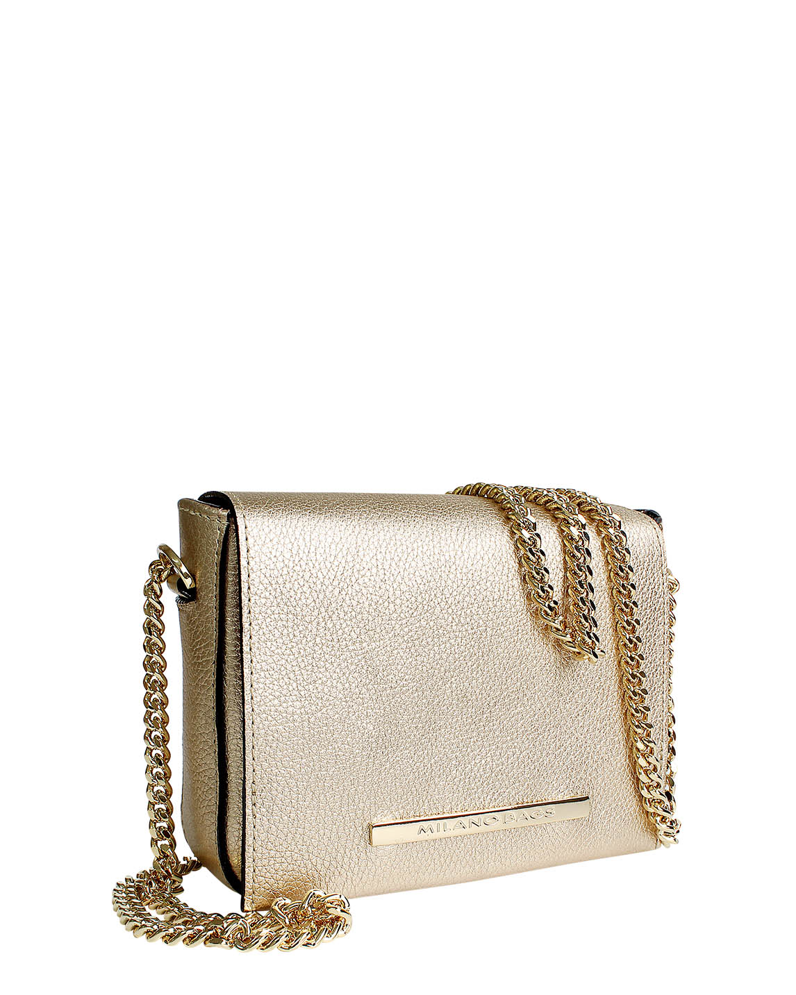 Cartera Satchel DS-3093 Color Oro
