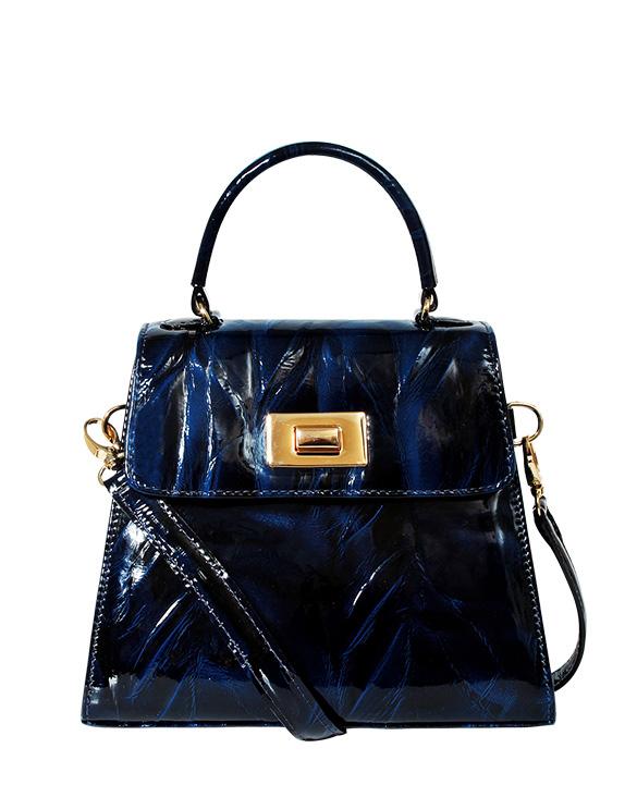 Cartera Satchel DS-3123 Color Azul