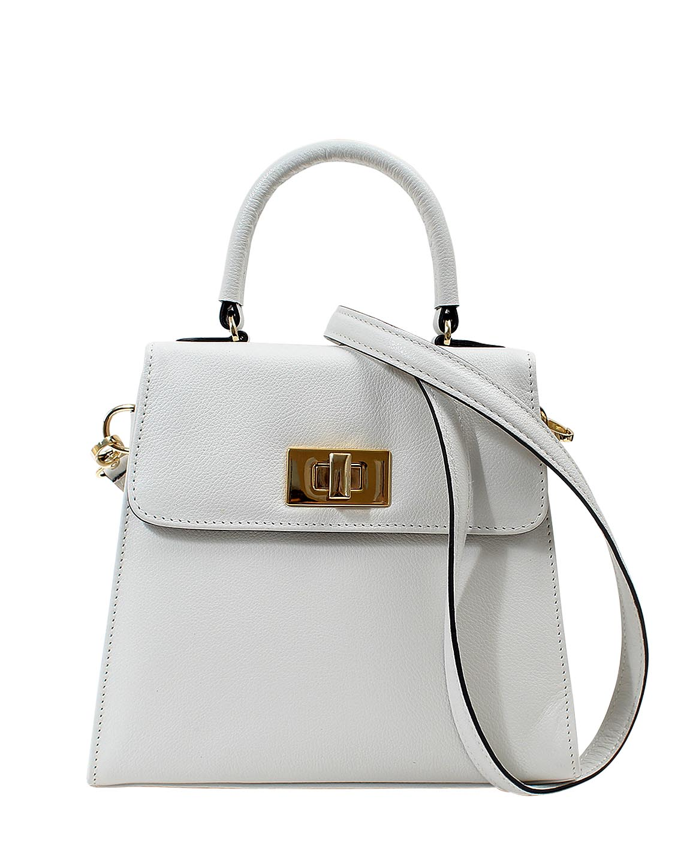 Cartera Satchel DS-3123 Color Blanco