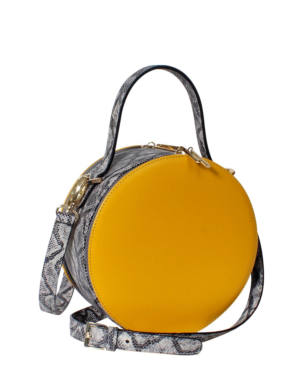Cartera Satchel DS-3201 Color Amarillo