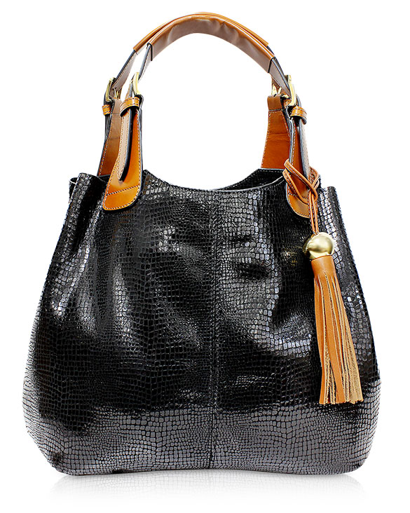 Cartera Tote Bag DS-2411 Color Negro Snake