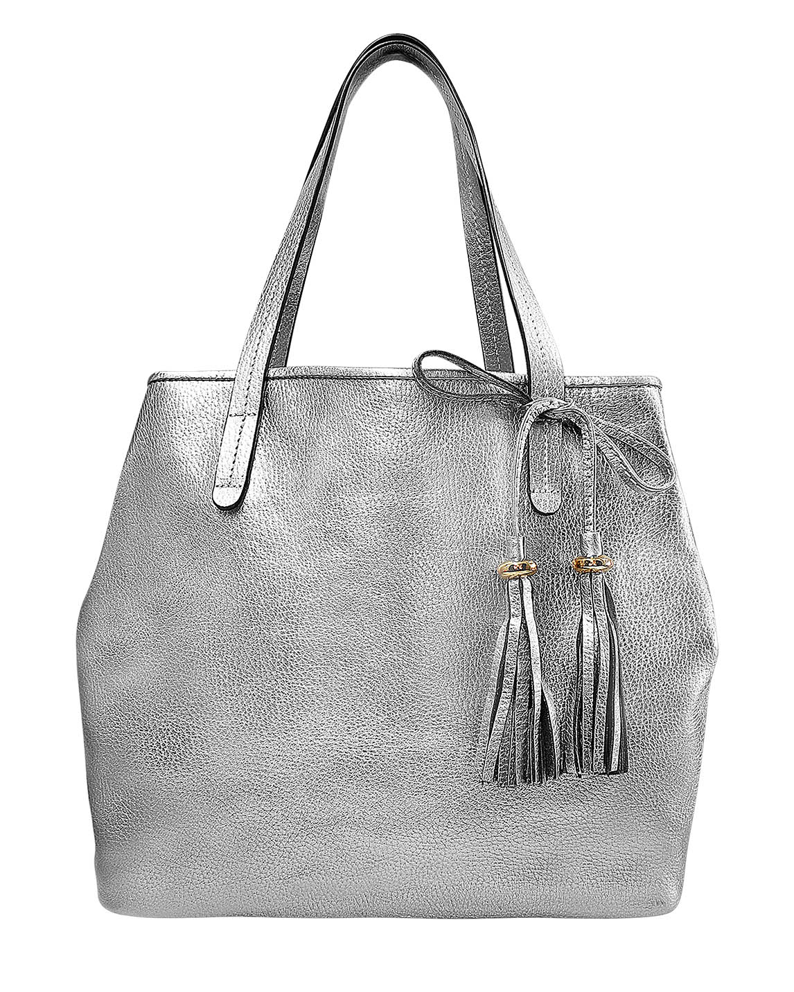 Cartera Tote Bag DS-2941 Color Plata