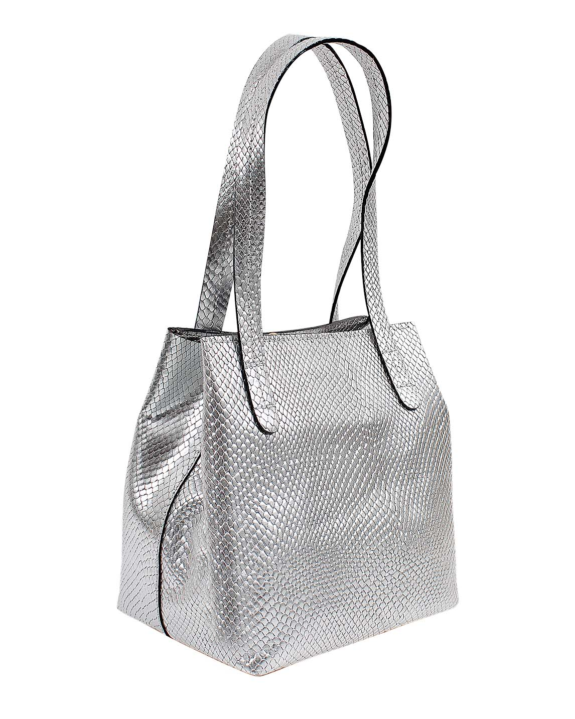 Cartera Tote Bag DS-3231 Color Plata
