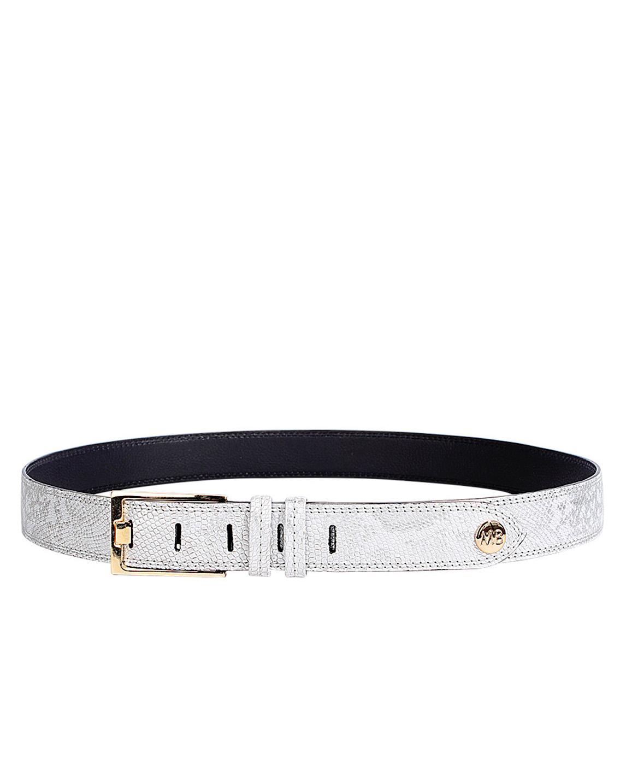 Cinturón Mujer S-0356 Color Plata