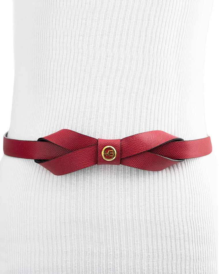 Cinturon Mujer S-555 Color Rojo