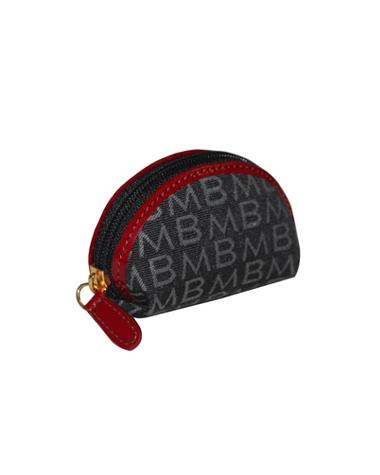 Monedero M-38LN Color Negro con Detalles en Rojo