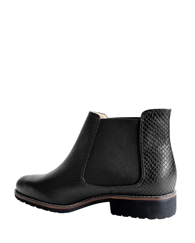 Zapato Botín FBU-8981 Color Negro