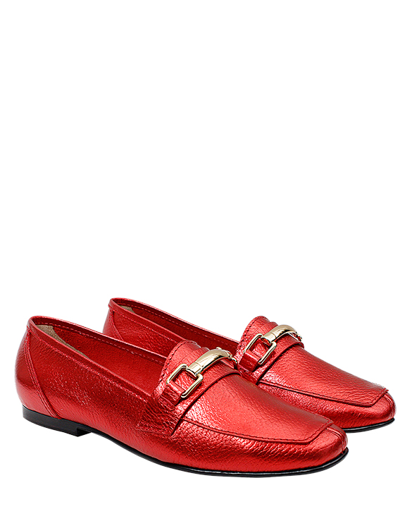 Zapato Flat FM-9600 Color Rojo