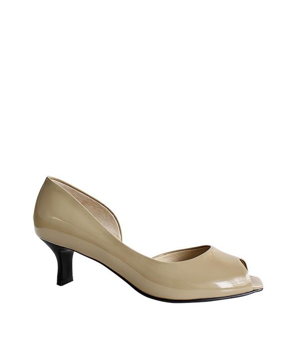 Zapato Peep Toe FRP-9345 Color Beige