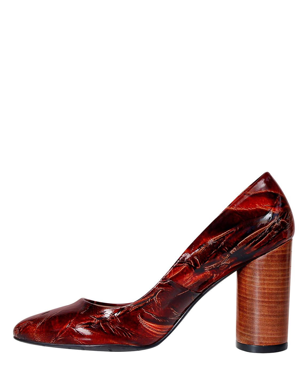 Zapato Pump FR-9641 Color Marrón